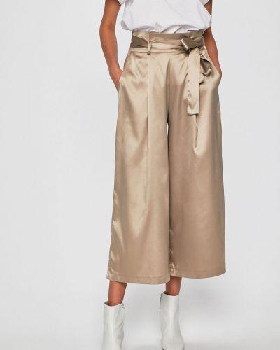 Свободные брюки с поясом бежевый Answear