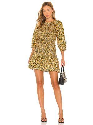Pomarańczowa sukienka mini bawełniana Saylor