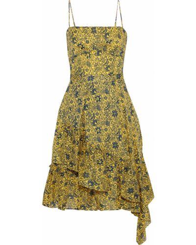Асимметричное хлопковое платье с подкладкой Derek Lam 10 Crosby