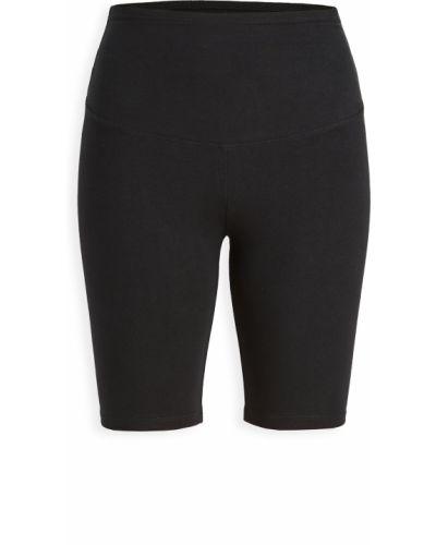 Хлопковые компрессионные черные шорты Yummie