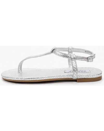 Кожаные сандалии - серебряные Inuovo