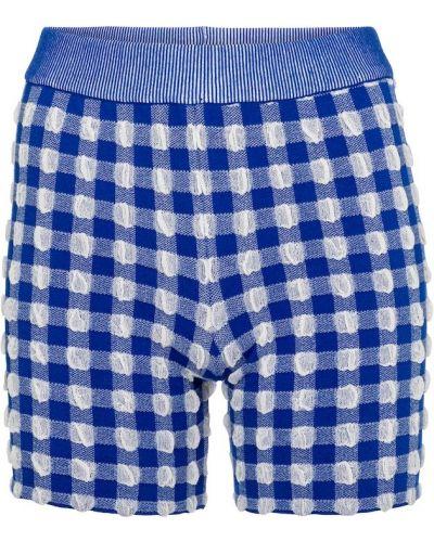 Bawełna niebieski krótkie szorty z wiskozy Jacquemus