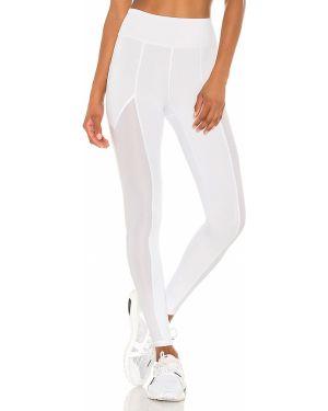 Białe legginsy z siateczką z nylonu Lovewave