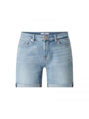 Szorty jeansowe - niebieskie 7 For All Mankind