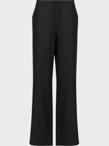 Черные брюки на шнурках с пайетками Luisa Spagnoli