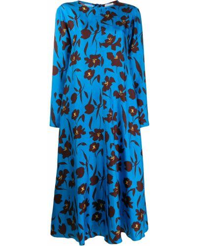 Платье с цветочным принтом с вырезом Alysi