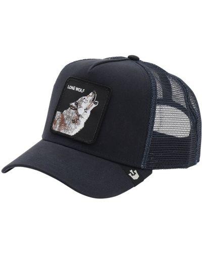 Niebieski kapelusz z haftem Goorin Bros