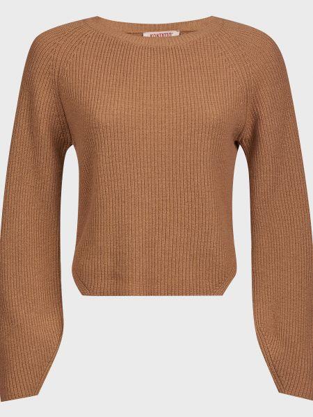 Кашемировый свитер - коричневый Kontatto