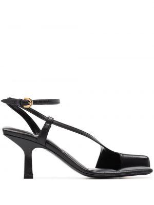 Czarne złote sandały Khaite