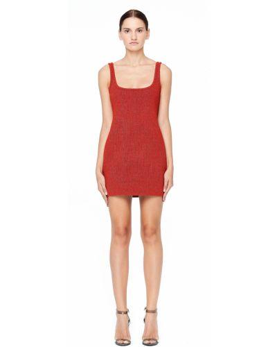 Платье мини с декольте - красное Yeezy