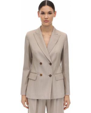 Пиджак шерстяной двубортный Max Mara