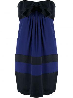 Шелковое платье винтажное на пуговицах с бантом Chanel Pre-owned