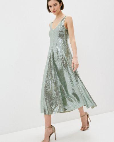 Зеленое вечернее платье Forte Forte