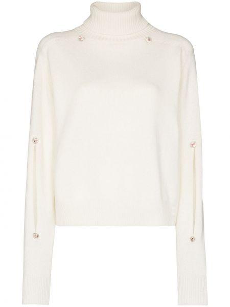 Sweter wełniany - biały Christopher Kane