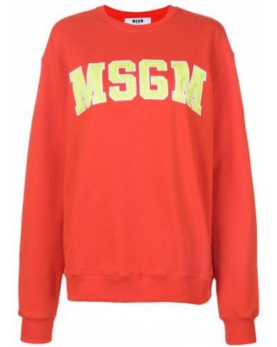 Красная толстовка Msgm
