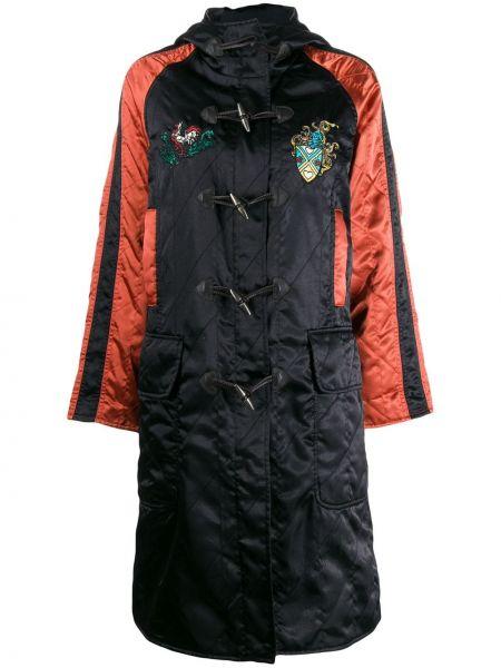 Шелковое стеганое пальто с воротником айвори с рукавом реглан Jean Paul Gaultier Pre-owned