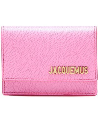 Кожаная сумка поясная розовый Jacquemus