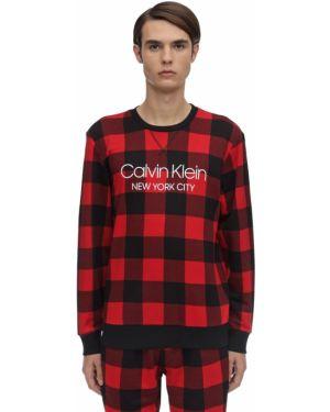 Ażurowy prążkowany sweter bawełniany Calvin Klein Underwear