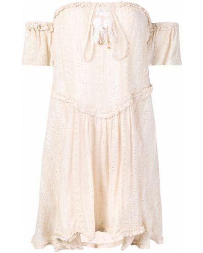 С заниженной талией расклешенное платье мини с кисточками Sundress