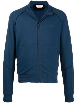 Niebieska bluza z długimi rękawami bawełniana Z Zegna