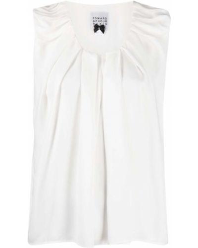 Biała bluzka bez rękawów Edward Achour Paris