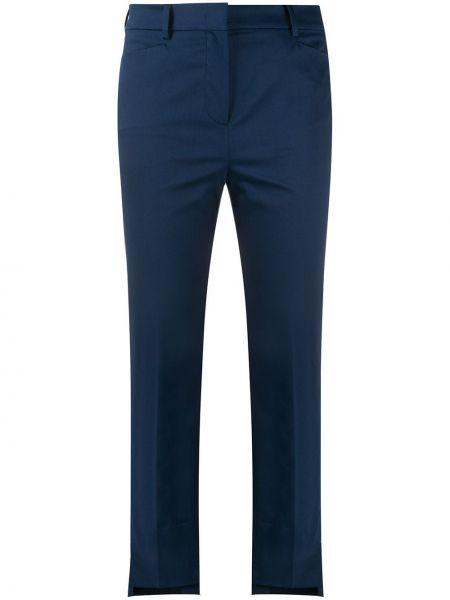 Синие прямые брюки с карманами Incotex