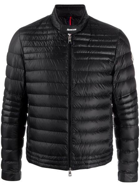 Długa kurtka czarna z guzikami Moncler