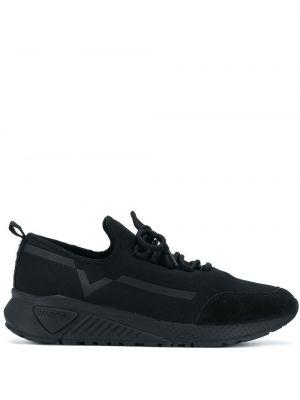 Кожаные кроссовки - черные Diesel