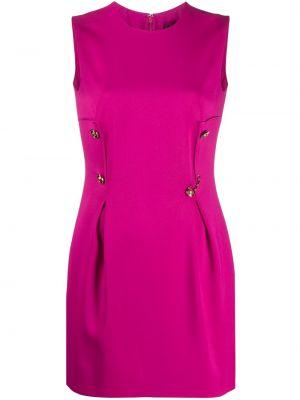 Шелковое платье мини - розовое Versace