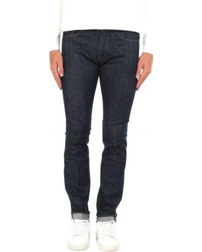Niebieskie mom jeans Incotex