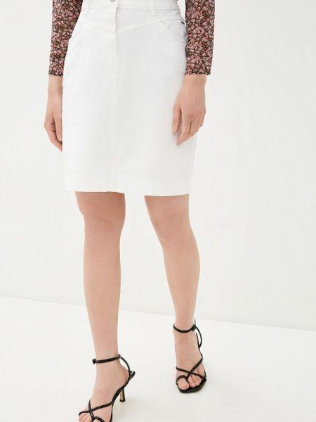 Джинсовая юбка белая весенняя B.young