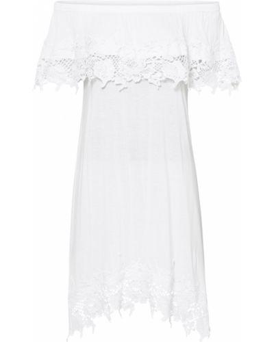 Кружевное белое ажурное платье Bonprix