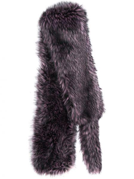 Czarny szalik z akrylu kopertowy Marco De Vincenzo