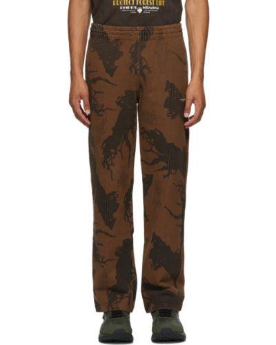 Прямые махровые черные прямые брюки с карманами Phipps
