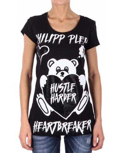 Хлопковая футболка - черная Philipp Plein