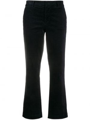 Классические хлопковые черные укороченные брюки на молнии 7 For All Mankind