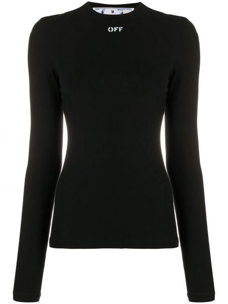 Czarny kaszmir prosto wyposażone koszula Off-white