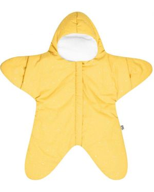 Żółta parkа bawełniana z printem Baby Bites