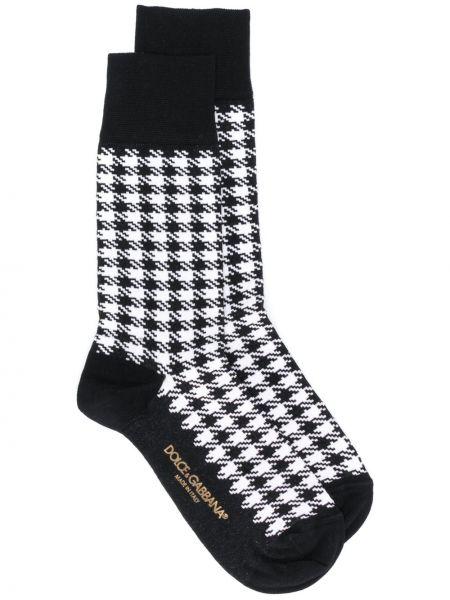 Czarne skarpety bawełniane Dolce And Gabbana