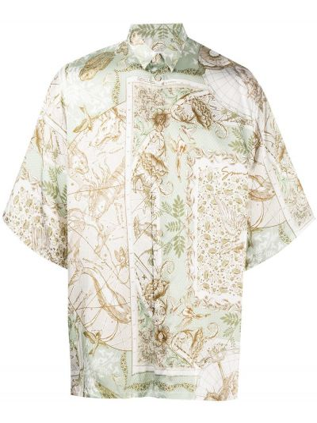 Zielony klasyczny prosto koszula klasyczna z wiskozy Givenchy