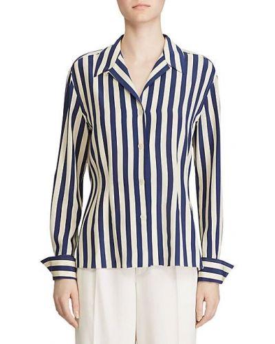 Bluzka elegancka w paski z długimi rękawami Ralph Lauren