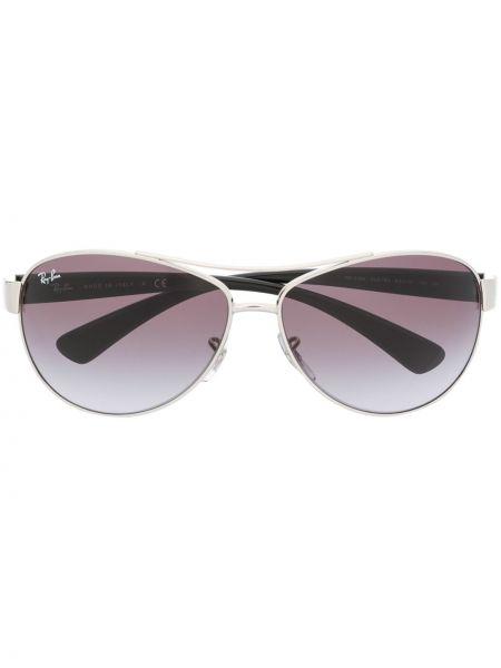 Черные солнцезащитные очки оверсайз металлические Ray-ban
