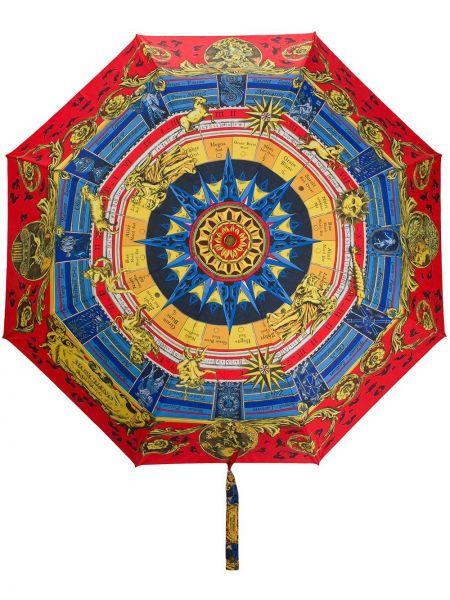 Parasol z nadrukiem khaki Moschino