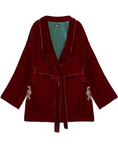 Свободные бархатный пиджак с вышивкой с воротником Alena Akhmadullina