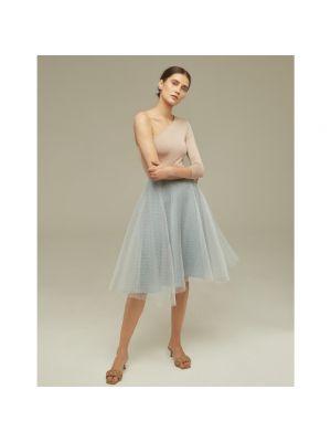 Spódnica rozkloszowana elegancka - szara Klaudyna Cerklewicz