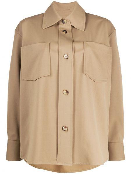 Классическая рубашка с воротником с карманами с заплатками на пуговицах Alberto Biani