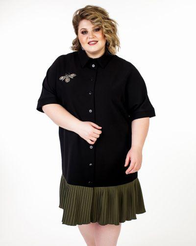 Повседневное платье на пуговицах плиссированное Jetti-plus