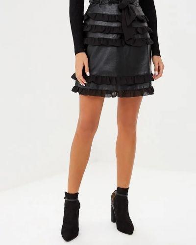 Черная юбка с оборками Lost Ink.