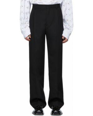 Брючные черные прямые брюки с поясом новогодние Botter
