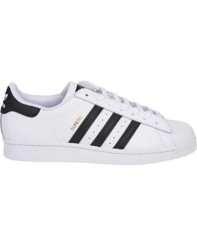 Trampki skorzane - białe Adidas Originals